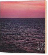 Caribbean Sunset Wood Print by Kim Fearheiley