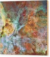 Carina Nebula - Interpretation 1 Wood Print by The  Vault - Jennifer Rondinelli Reilly