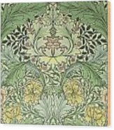 Carnations Design Wood Print by William Morris