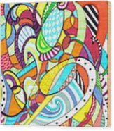 Carnival  Wood Print by Shawna Rowe