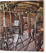 Carpenter - This Old Shop Wood Print by Mike Savad
