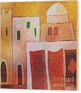 Carpet Town Wood Print by Lutz Baar