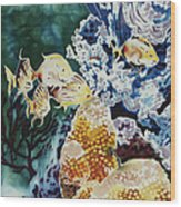 Carribean Currents Poster Wood Print by Dona Desjardins