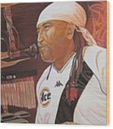 Carter Beauford At Red Rocks Wood Print by Joshua Morton