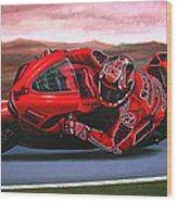 Casey Stoner On Ducati Wood Print by Paul Meijering