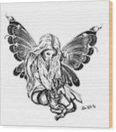 Cat Fairy  Wood Print by Peter Piatt
