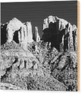 Cathedral Rock Glow Wood Print by John Rizzuto