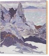 Cathedral Rock  Iona Wood Print by Francis Campbell Boileau Cadell