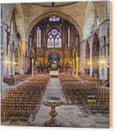 Cathedrale Saint-etienne Interior / Cahors Wood Print by Barry O Carroll