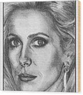 Catherine Deneuve In 1976 Wood Print by J McCombie
