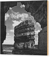 Cave With A View Wood Print by Tony Reddington