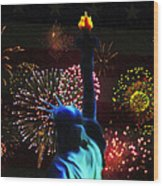 Celebrate America Wood Print by Simon Wolter