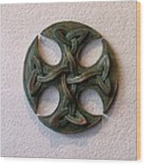 Celticross 1 Wood Print by Flow Fitzgerald
