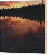 Center Pond Baxter State Park Wood Print by Tim  Canwell