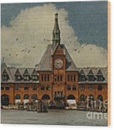 Central Railroad Of New Jersey Wood Print by Juli Scalzi