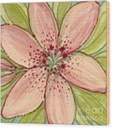 Ceramic Flower 2 Wood Print by Anna Skaradzinska