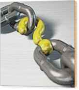 Chain Missing Link Question Wood Print by Allan Swart