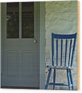 Chair On Farmhouse Porch Wood Print by Olivier Le Queinec