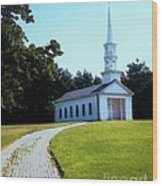 Chapel At The Wayside Inn Wood Print by Desiree Paquette