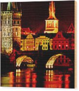Charles Bridge Wood Print by John Galbo