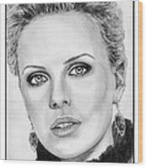 Charlize Theron In 2008 Wood Print by J McCombie