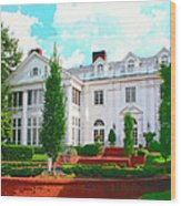 Charlotte Estate Charlotte Nc Wood Print by William Dey