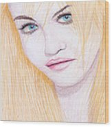 Charlotte Free Wood Print by M Valeriano