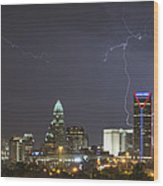 Charlotte's Storm Wood Print by Brian Young
