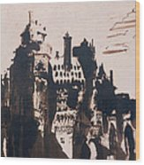 Chateau Fortified By Two Bridges Wood Print by Victor Hugo
