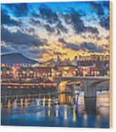 Chattanooga Evening After The Storm Wood Print by Steven Llorca