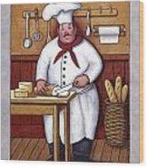 Chef 3 Wood Print by John Zaccheo