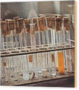 Chemist - Specimen Wood Print by Mike Savad