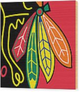 Chicago Blackhawks Wood Print by Tony Rubino