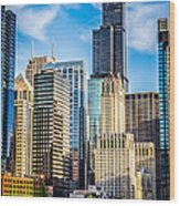 Chicago High Resolution Picture Wood Print by Paul Velgos