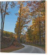 Chillin' On A Dirt Road Square Wood Print by Bill Wakeley