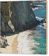 China Cove At Point Lobos State Beach Wood Print by Artist and Photographer Laura Wrede