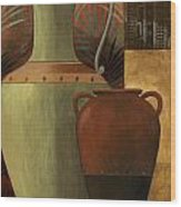 Chines Urn 2 Wood Print by Pablo Esteban