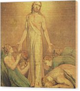 Christ Appearing To The Apostles After The Resurrection Wood Print by William Blake