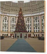 Christmas At West Baden Wood Print by Sandy Keeton