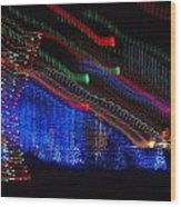 Christmas Lights Wood Print by Dan Sproul
