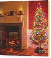 Christmas Tree Wood Print by Olivier Le Queinec