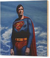 Christopher Reeve As Superman Wood Print by Paul Meijering