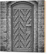 Church Door 02 Wood Print by Antony McAulay
