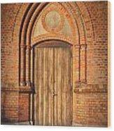 Church Door Helsingborg Wood Print by Antony McAulay
