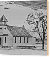 Church On The Plains Wood Print by Marty Koch