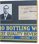 Cicero Bottling Works Chicago Brewing Wood Print by Kurt Olson