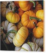 Cinderella Pumpkin Pile Wood Print by Kerri Mortenson