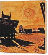 Circle The Wagons Wood Print by Mike Flynn