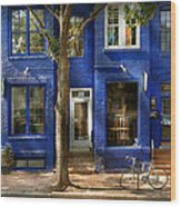 City - Alexandria Va -  Bike - The Urbs Wood Print by Mike Savad