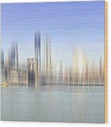 City-art Manhattan Skyline I Wood Print by Melanie Viola